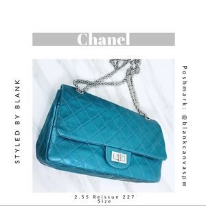 2d61bfca9360 CHANEL. Auth CHANEL 2.55 Reissue Double Flap ...